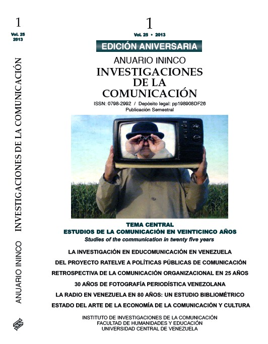 ANUARIO ININCO VOL25 N°1 2013
